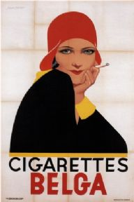 Vintage cigarette advertisement - BELGA CIGARETTES POSTER